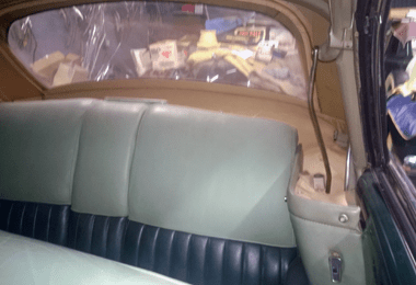 1953 Lincoln Capri backseat interior