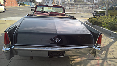 1969 Cadillac DeVille trunk