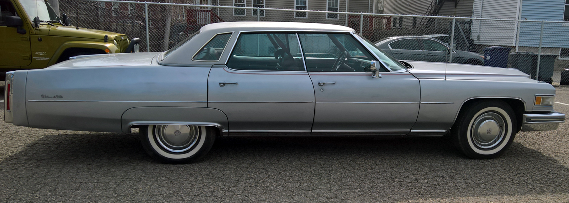1975 Cadillac DeVille grey red leather for sale