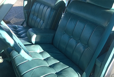 1979 Cadillac green leather