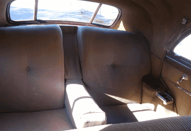 1941 Cadillac rear interior